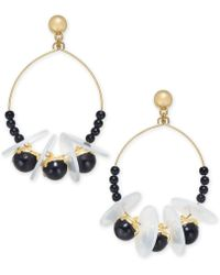 INC International Concepts - I.n.c. Gold-tone Bead, Disc & Stone Shaky Drop Earrings, Created For Macy's - Lyst