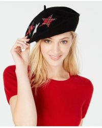 Charter Club - Plaid Stars Wool Beret, Created For Macy's - Lyst