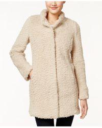 Kenneth Cole - Plus Size Faux-fur Coat - Lyst