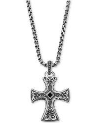 Scott Kay - Men's Onyx (3mm) Pendant Necklace In Sterling Silver - Lyst