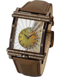 Le Vian - Diamond Unisex Brown Leather Strap Watch (1-7/8 Ct. T.w.) 43mm Zag117 - Lyst