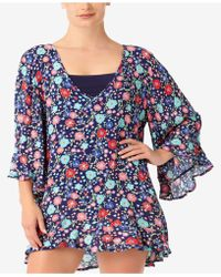 Anne Cole - Plus Size Lazey Dazey Tunic Cover-up - Lyst