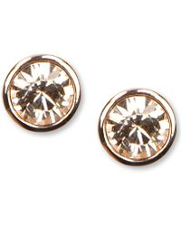 Givenchy - Earrings, Rose Gold-tone Swarovski Element Stud Earrings - Lyst
