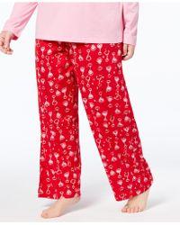 Hue | Plus Size Printed Knit Pajama Pants | Lyst