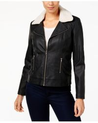 Style & Co. - Faux-leather Sherpa Jacket - Lyst