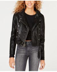Maralyn & Me - Juniors' Asymmetrical Faux-leather Moto Jacket - Lyst