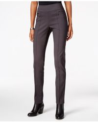 Style & Co. - Petite Straight-leg Pull-on Trousers, Only At Macy's - Lyst