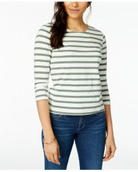 Maison Jules - Cotton Striped Bow-embellished Top, Created For Macy's - Lyst