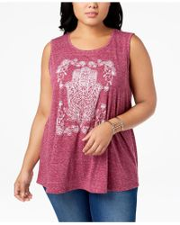 Style & Co. - Plus Size Graphic Tank Top, Created For Macy's - Lyst
