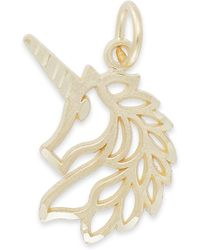 Macy's - Unicorn Head Charm In 14k Gold - Lyst