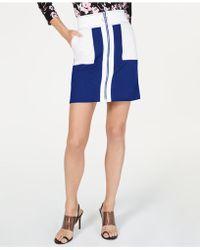 d9e7fa377 Kensie Faux-suede Mini Skirt in Purple - Lyst