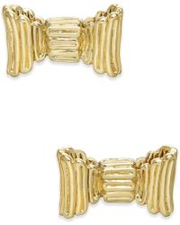 Kate Spade - Gold-tone Bow Stud Earrings - Lyst