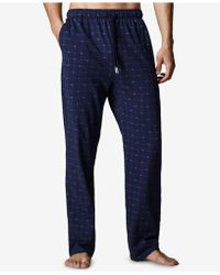 Lacoste - Men's Henley Top & Woven Pants Pajama Gift Set - Lyst