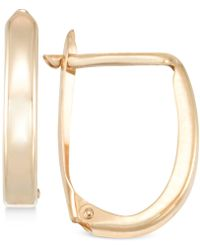 Macy's - Polished U-hoop Earrings In 10k Gold - Lyst