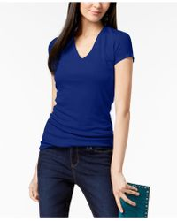 INC International Concepts - Ribbed Short-sleeve V-neck Top - Lyst