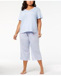 Charter Club - Mix It Plus Size Cotton Pyjama Set - Lyst