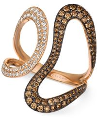 Le Vian - Chocolatier® Diamond Contemporary Swirl Ring (1 Ct. T.w.) In 14k Rose Gold - Lyst