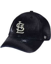 hot sale online 71bef 60dd2 47 Brand Los Angeles Dodgers Clean Up Cap in Black for Men - Lyst
