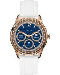 Guess - Connect Women's White Silicone Strap Touchscreen Smart Watch 40mm - Lyst