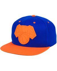 Mitchell & Ness - New York Knicks Rubber Weld Snapback Cap - Lyst
