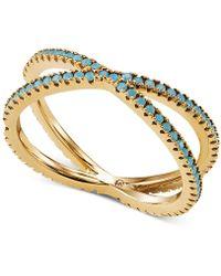 Michael Kors - Custom Kors Sterling Silver Turquoise Nesting Ring - Lyst