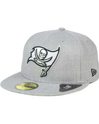 KTZ - Tampa Bay Buccaneers Heather Black White 59fifty Cap - Lyst 5886a21d3
