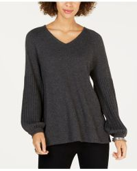 Style & Co. - Bishop-sleeve Tunic Sweater, Created For Macy's - Lyst