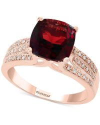 Effy Collection - Rhodalite Garnet (3-1/4 Ct. T.w.) And Diamond (1/5 Ct. T.w.) Ring In 14k Rose Gold - Lyst