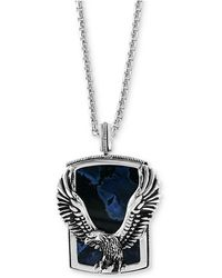"Effy Collection - Pietersite Eagle 22"" Pendant Necklace In Sterling Silver - Lyst"