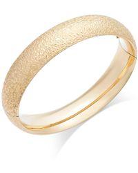 Macy's - Crystal-cut Hinge Bangle Bracelet In 14k Gold - Lyst