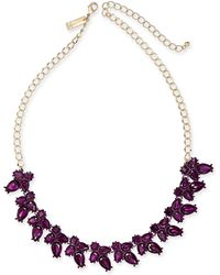 """INC International Concepts - I.n.c. Gold-tone Crystal Flower Necklace, 18"""" + 3"""" Extender, Created For Macy's - Lyst"""