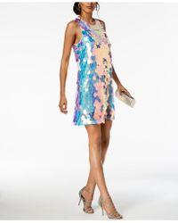 Laundry by Shelli Segal - Sequin Paillete A-line Dress - Lyst