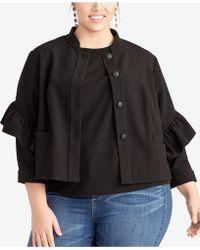 9204b5038e9 Lyst - RACHEL Rachel Roy Faux-shearling Jacket in Brown