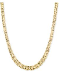 Macy's - Graduated Byzantine Necklace In 14k Gold - Lyst