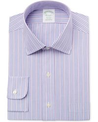 Brooks Brothers - Men's Milano Extra-slim Fit Non-iron Purple Striped Dress Shirt - Lyst