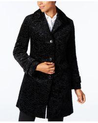 Jones New York - Faux-fur Walker Coat - Lyst