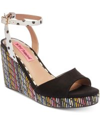 Betsey Johnson - Dotie Wedge Sandals - Lyst