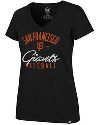 47 Brand - San Francisco Giants Ultra Rival Metallic Script T-shirt - Lyst