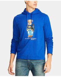 Polo Ralph Lauren - Polo Bear Hooded Long-sleeve T-shirt - Lyst