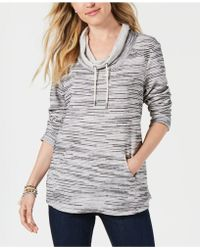 Style & Co. - Cowl-neck Sweatshirt, Created For Macy's - Lyst