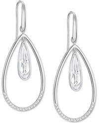 Swarovski - Silver-tone Crystal Orbital Drop Earrings - Lyst