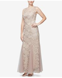 Alex Evenings - Embroidered Lace Gown - Lyst