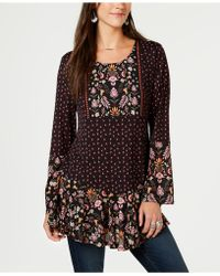 Style & Co. - Mixed-print Peasant Tunic, Created For Macy's - Lyst