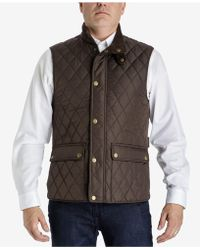 London Fog - Men's Diamond Quilted Vest - Lyst