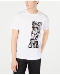 BOSS - Qr Code Graphic T-shirt - Lyst