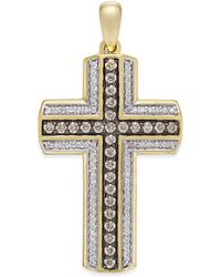 Macy's - Men's Diamond Cross Pendant (3/4 Ct. T.w.) In 10k Gold - Lyst