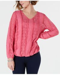 Style & Co. - Lace Overlay Blouse, Created For Macy's - Lyst