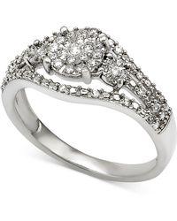 Macy's - Diamond Ring (1/4 Ct. T.w.) In Sterling Silver - Lyst