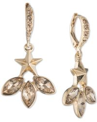 Givenchy - Gold-tone Star & Crystal Drop Earrings - Lyst