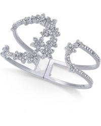 INC International Concepts - I.n.c. Silver-tone Crystal Cluster Flower Hinged Cuff Bracelet, Created For Macy's - Lyst